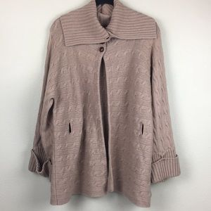 Ralph Lauren Wool Cashmere Knit Cape Cardigan